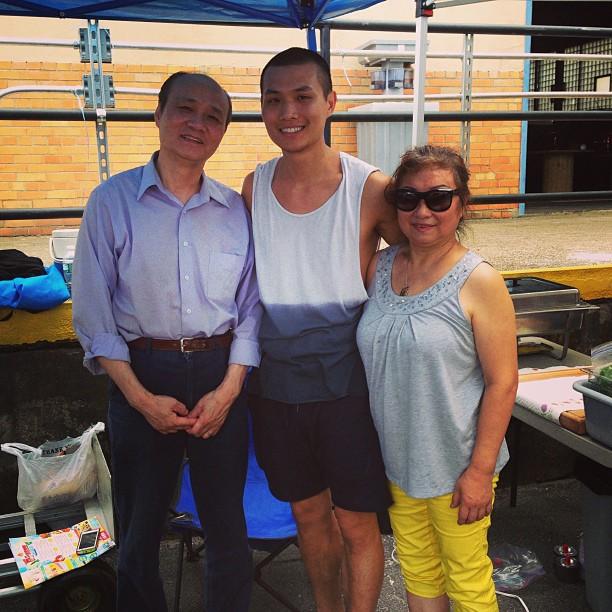Carson and his parents at LIC Flea.